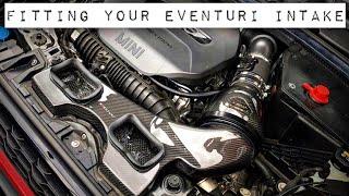 BMW Mini F56 Fitting an Eventuri Carbon Intake and Bonnet Scoop S JCW John Cooper Works F55