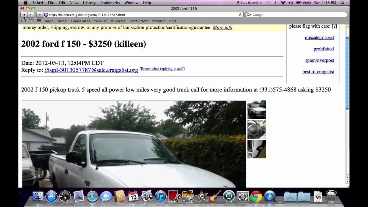 Craigslist Com Houston >> Craigslist Temple TX Used Cars - Prices Under $1500 Available on Trucks and Vans - YouTube