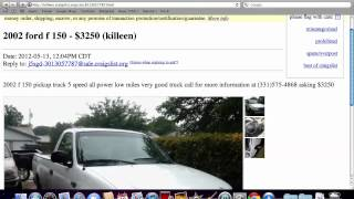 Craigslist Temple TX Used Cars - Prices Under $1500 Available On Trucks And Vans