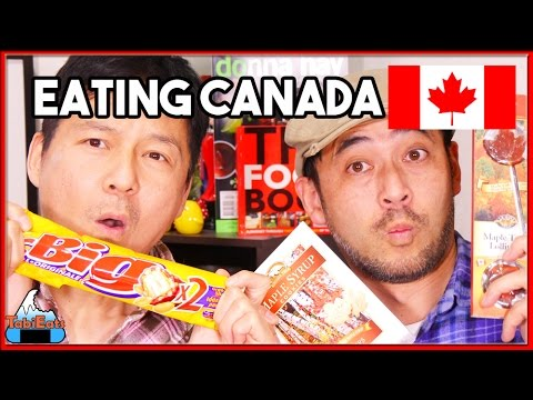 Japanese Try Canadian Snacks! (Food Haul)