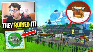 I only use loot from the NEW GREASY GROVE... (Fortnite NEW MAP UPDATE)