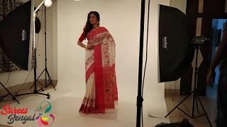Jamdani Saree | Tussar Silk Sarees Photo Shoot | Bengali Sarees - Sarees Of Bengal