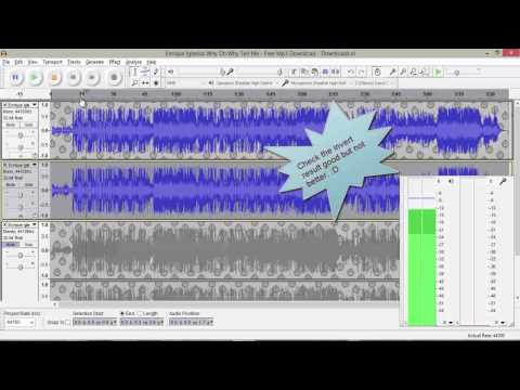 How To Remove Vocals From Any Track / How To Make Best Karaoke Using Audacity