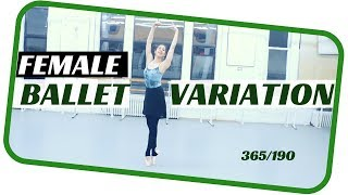 Female ballet variations- ballet dance 190