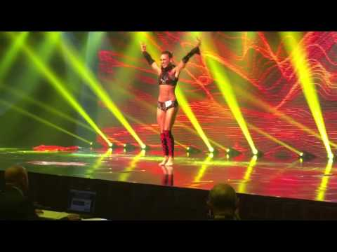 Anca Bucur winning routine at Fitness America Pro division 2015