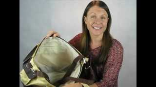 Nappy Tote Bag Diaper Bag/ Carry On Bag with Free Baby Change Pad (Demo Video)