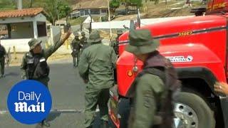 Tempers flare in Venezuela as Maduro tries to block humanitarian aid