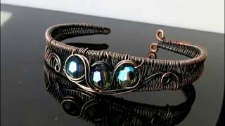 Woven Wire Bang With Beads or Cab - A Wire Wrap Tutorial