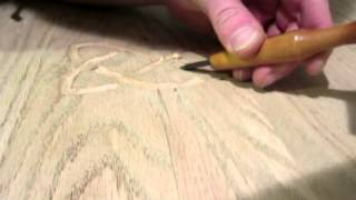 Carving Celtic Pattern By Hand