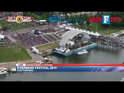 Riverbend Festival 2020.Newschannel 9 S Skycam Over Riverbend