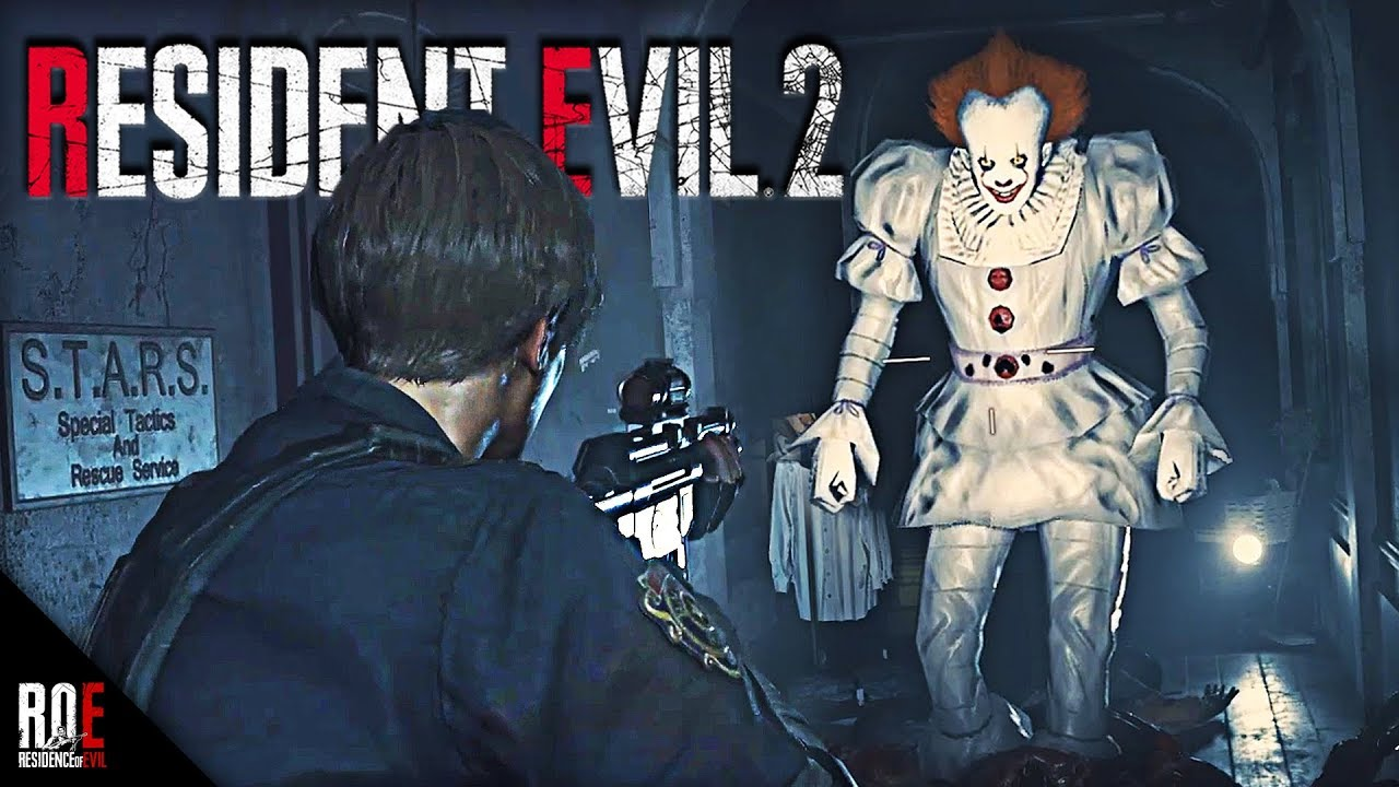 Resident Evil 2 Remake Pennywise From It As Mr X Mod Youtube