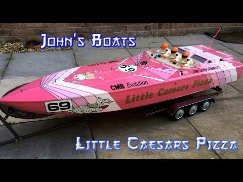 Rc Aeromarine 57 Apache offshore powerboat little Caesars Pizza, rc boat