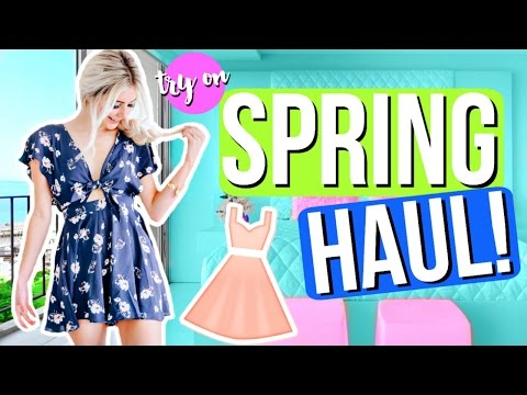 Spring Try On Clothing Haul! Cute Outfit Ideas! | Aspyn Ovard