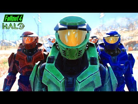 Fallout 4 - MASTER CHIEF ARMOR! - Halo Weapons & Armor - Sie