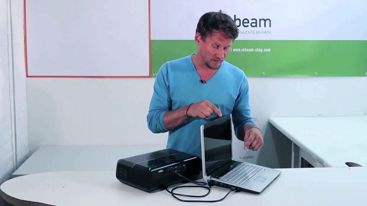 Berühmt Computer richtig an den Beamer anschließen - YouTube VF37