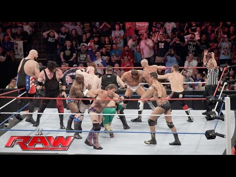 Thumbnail: Team U.S.A. vs. The Multinational Alliance - 16-Man Elimination Tag Team Match: Raw, July 4, 2016