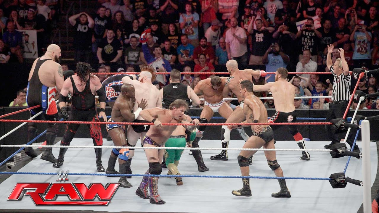 Download Team U.S.A. vs. The Multinational Alliance - 16-Man Elimination Tag Team Match: Raw, July 4, 2016