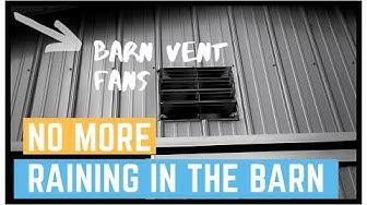 Barn Ventilation Fans We installed, 30x40 METAL pole barn