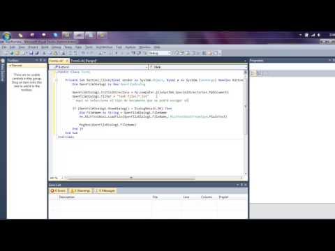 Abrir un archivo .txt y mostrarlo en un Formulario V.Basic 2010