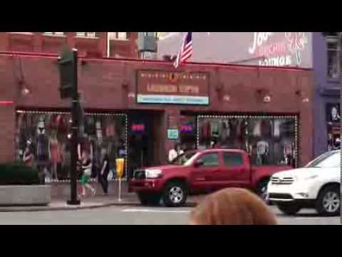 Nashville Tennessee Scenic Video Music City Center Downtown and Country Music Hall of Fame
