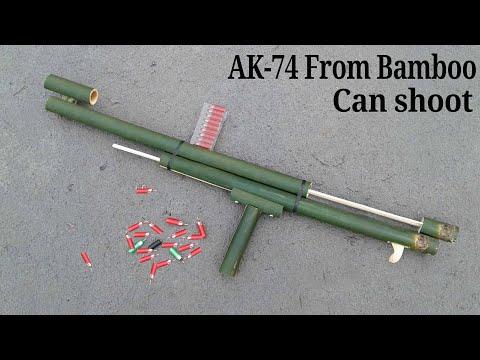 How to make a AK-74 GUN Using Bamboo || How to make a bamboo gun