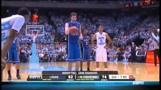 #9 Duke Blue Devils at #5 North Carolina Tar Heels 02-08-2012