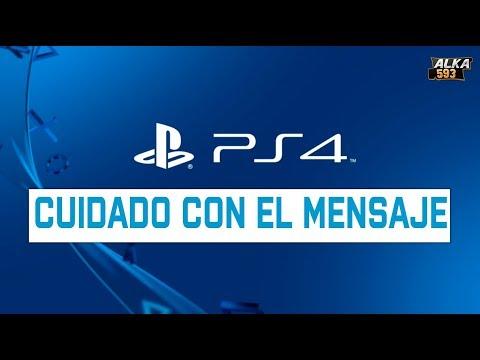 CUIDADO con tu PS4 mensaje malicioso - Configuración de mensajes PlayStation 4 Solución