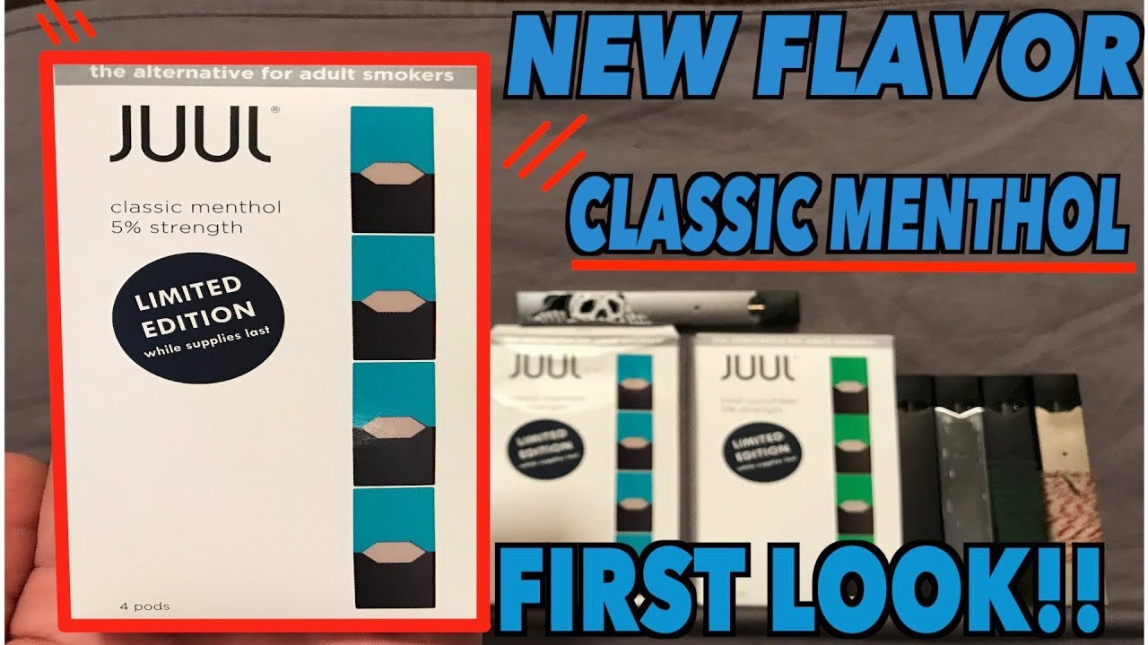 New JUUL Classic menthol Limited edition FLAVOR