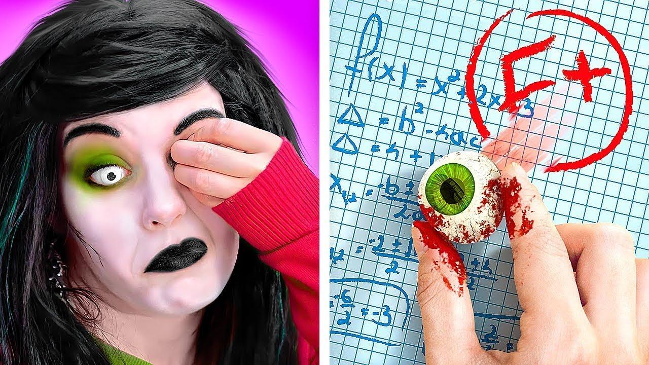 ZOMBIE EN LA ESCUELA || ¿Y si tu mejor amiga fuera un zombi? | Divertidos trucos y bromas DIY ZOMBIE