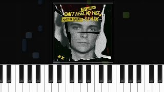 The Weeknd - ''I Can't Feel My Face'' (Martin Garrix Remix) Piano Tutorial - Chords - How To Play