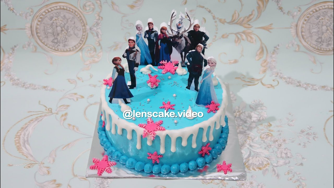 Frozen Elsa Cake Decorating Simple For Daughter Cara Membuat Kue Ulang Tahun Anak Perempuan