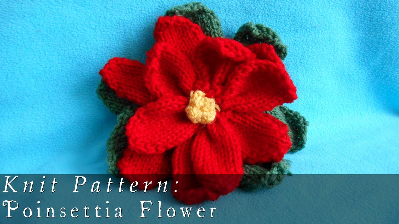 Poinsettia Flower Knitted Youtube