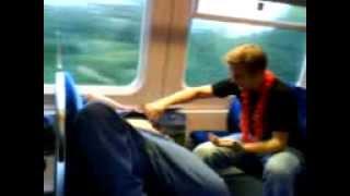 På vej hjem i toget