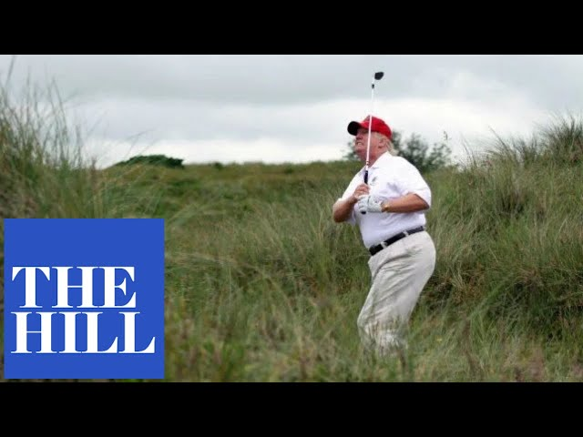 Trump goes golfing amid Amy Coney Barrett selection furor
