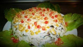 Салат с куриной грудкой и шампиньонами  рецепт от Inga Avak