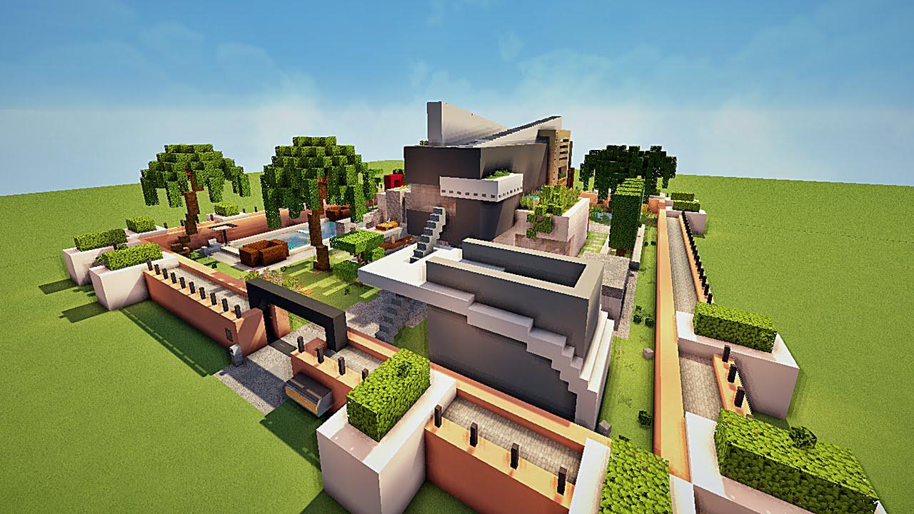 Minecraft Construction Villa De Luxe : Maisons des abonnés de darius youtube