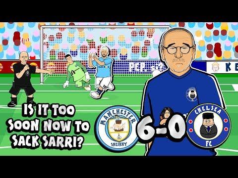 😲6-0! SARRI SACKED?!😲 (Man City vs Chelsea Parody Goals Highlights)