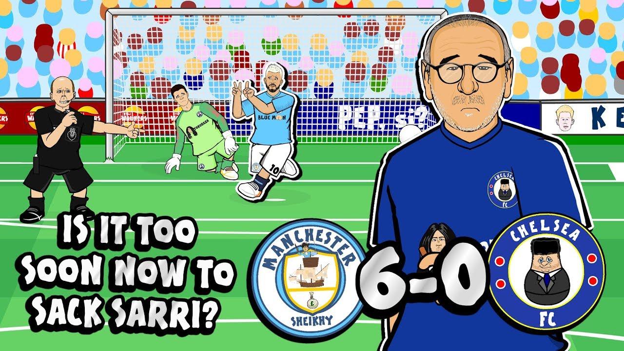6-0! SARRI SACKED?!😲 (Man City vs Chelsea Parody Goals ...