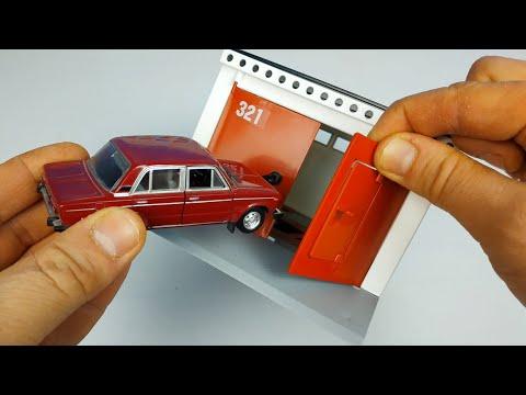 Масштабный гараж с распашными воротами для машинок моделек! Распаковка и обзор!