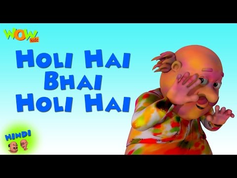 Holi Hai Bhai Holi Hai - Motu Patlu Hindi - ENGLISH, SPANISH & FRENCH SUBTITLES! As on Nickelodeon