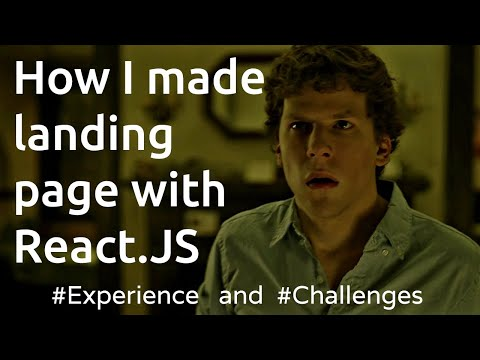 Me 11 Hours for Just Making Simple Landing Site with React.JS? | How To Make Facemash