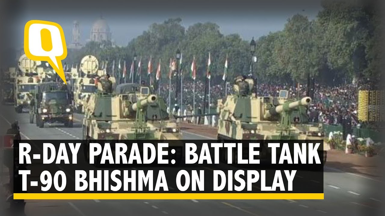 Republic Day 2019: T-90 Bhishma Tanks, K9 Vajra-T Self Propelled Howitzer Displayed at Rajpath