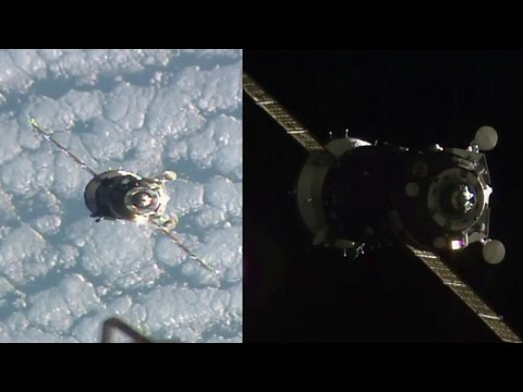 Soyuz MS-01 docking