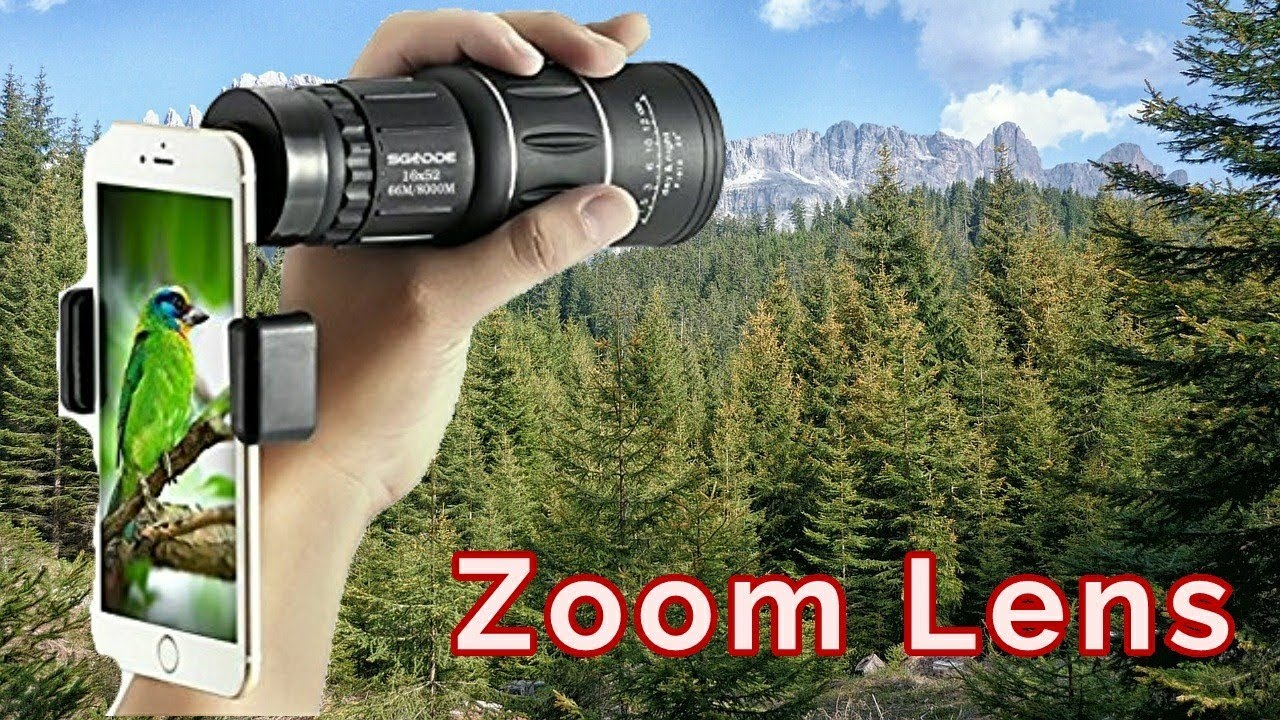 Cell phone zoom monocular lens review youtube