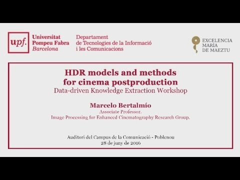 HDR models and methods for cinema postproduction