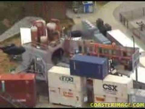 Italian Job Stunt Track Roller Coaster at Kings Island - Backlot Stunt Coaster