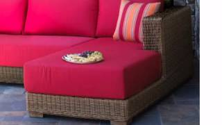 Patio Wicker Chaise Sectional - South Beach - Wickerparadise.com