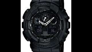 Настройка Casio G-shock GA-100-1A1 [5081](Моя страница в VK: https://vk.com/komers06_gshock Коллекционные часы Casio, не Китай - https://vk.com/club104816171