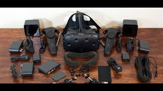 ვირტუალური სათვალის HTC VIVE-ის UNBOXING-ი მიმოხილვა და დაკონფიგურირება