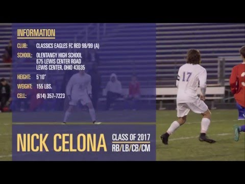 Nick Celona - Classics Eagles FC Red 98/99 (A) & Olentangy High School - Soccer Recruiting Video